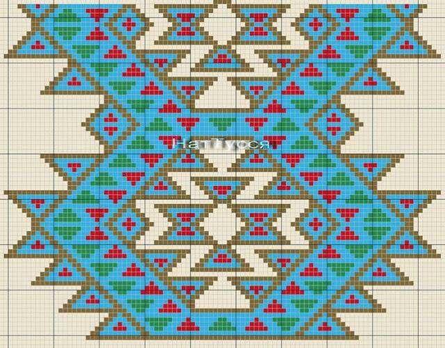 Chart for Native American-inspired crochet bag.