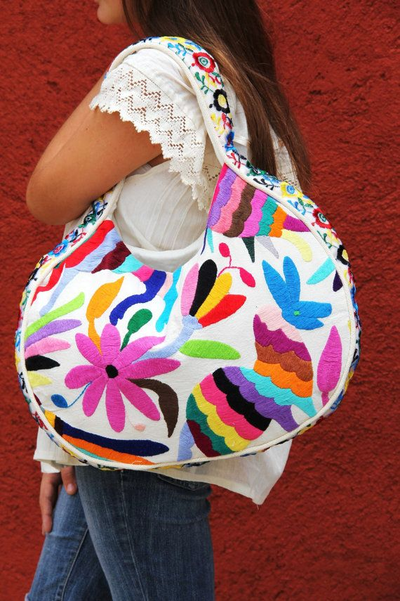 Otomi Multi colored Handbag OOAK by CasaOtomi on Etsy