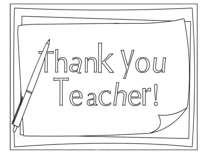 Thank You Teacher Appreciation Day Coloring Page Your Teacher