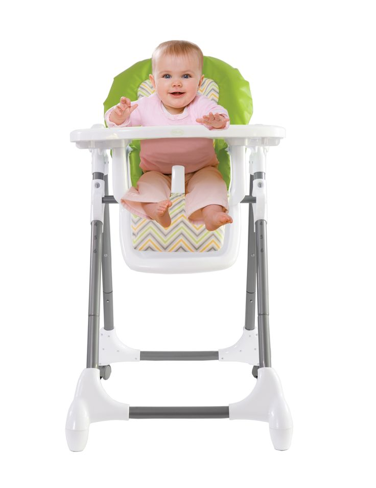 The Vib High Chair is carefully designed for baby's safety. It features a large tray with a cup holder and an easy clean seat with a five point harness. The high chair also folds compactly for storage.  Suitable for children who are able to  sit up unaided. - Compact folding stand alone frame  - Removable infant insert pad for easy cleaning - 3 Recline positions - 5 point harness - 6 position height adjustment - Dishwasher safe insert tray - Folds easily  - Approximately 6-36 months