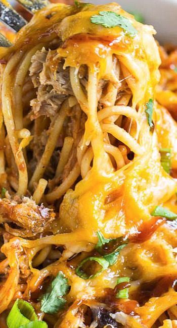 BBQ Spaghetti (Try adding Shredded Chicken and Mozzarella!)