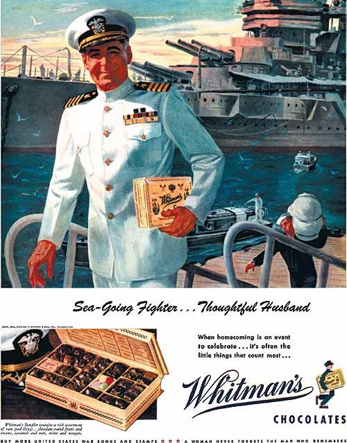 "Whitman's, ""Sea-Going Fighter...Thoughtful Husband"" (1943) Prohaska"
