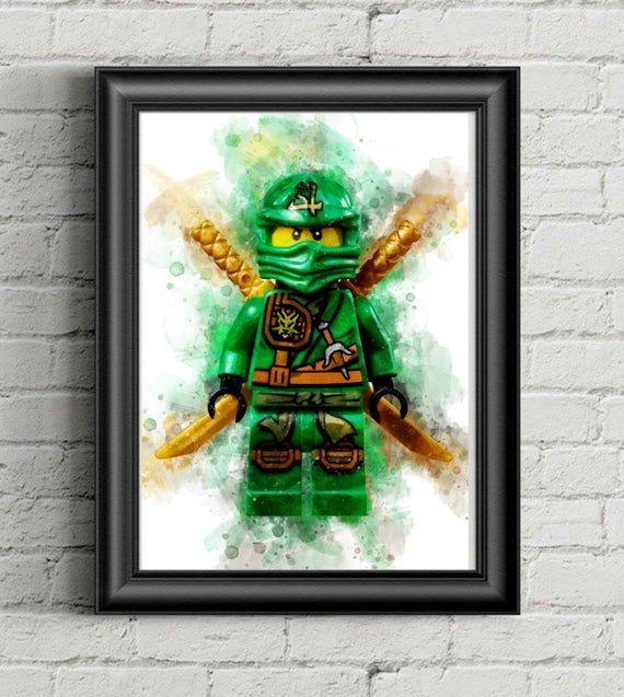 Lego Lloyd Garmadon Watercolor Print Ninjago Digital Print