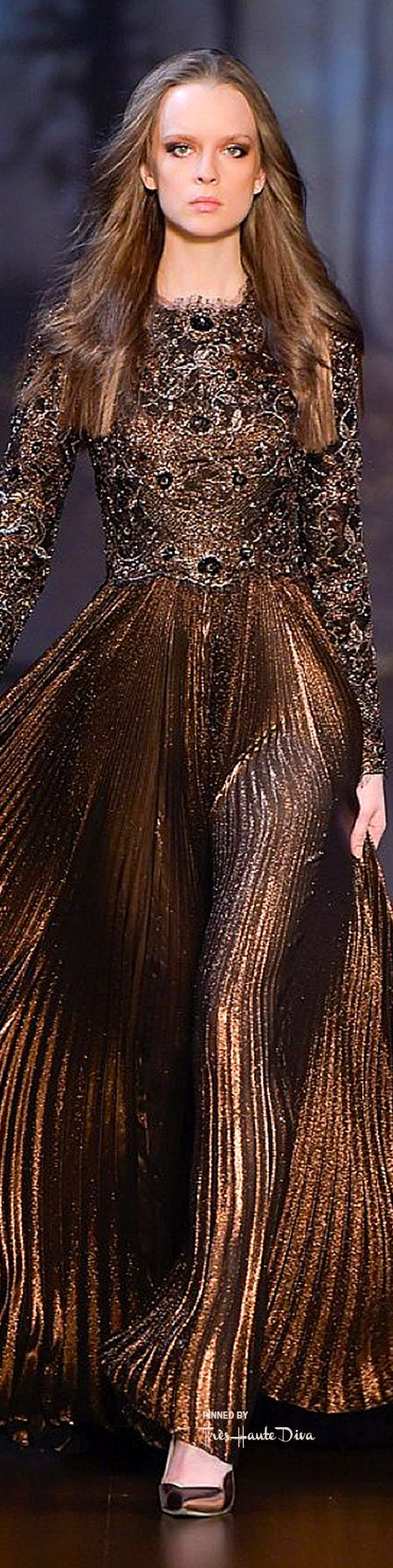 Elie Saab Haute Couture Fall 2015 ♔ Très Haute Diva Note: I mean, Fall/Winter bride??? Wow. - Heather