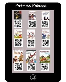 Patricia Polacco IPAD/IPOD Listening Center QR Codes #iphone #ipad #iOS #kids #Apps #learning