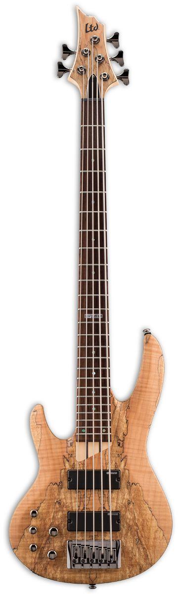 ESP LTD B-205SM Spalted Maple Left Handed Bass Guitar