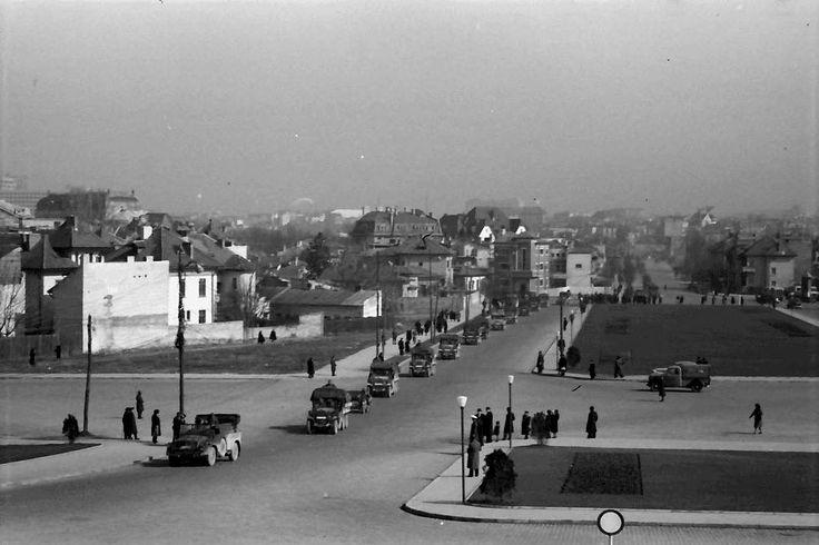Rebeliunea legionară, 21-23 ianuarie 1941 Vedere spre Cartierul Cotroceni, dinspre Academia Militară foto:Willy Pragher