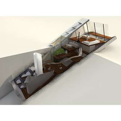 The Hidden House Project by 123DV Modern Villas.  Modern ECO Architecture.