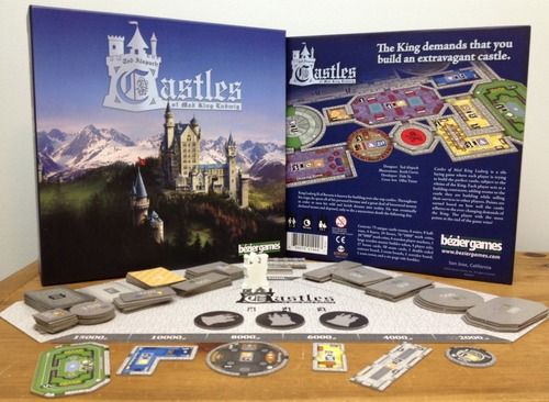 Opposite of beautiful.  Mad King Ludwig created stunning castles - what blah looking game pieces