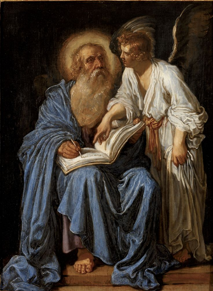 Saint Matthew / San Mateo // 1613 // Pieter Lastman // RISD Museum // #apostle #Gospel
