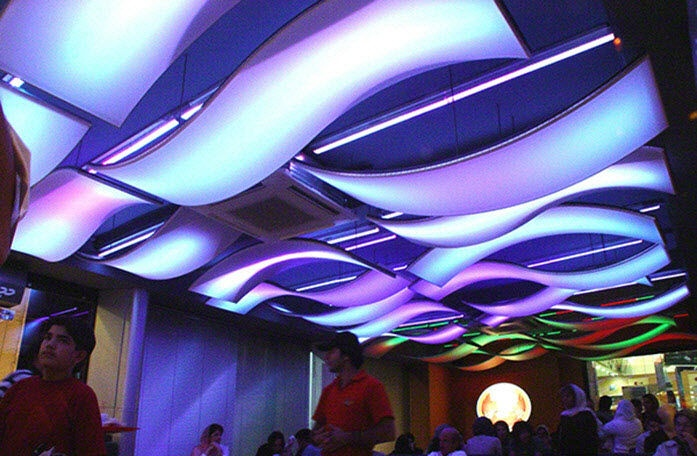 Sound Absorbing Ceiling Cloud Barrisol Lumi 200 Re Color