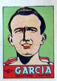 García. Atlético de Madrid. 1941-42. Cromos Bruguera. Delantero centro reserva.