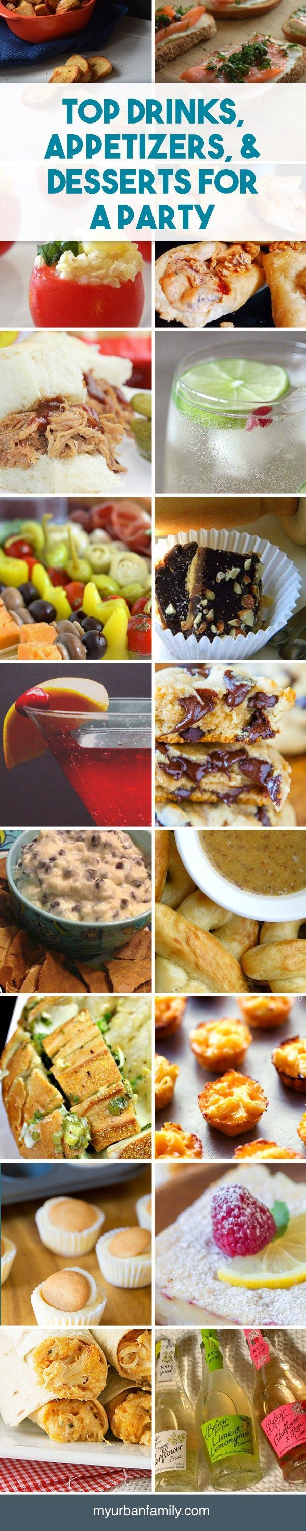 Finding the perfect drink, appetizer or dessert recipe for a party can be overwhelming. Let me narrow it down for you with my favorite options.