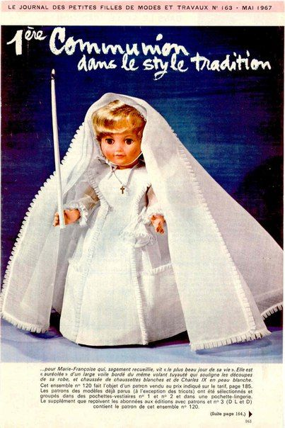 Doll's therapy. Для заболевших куклами. Из французского журнала 1967 года.