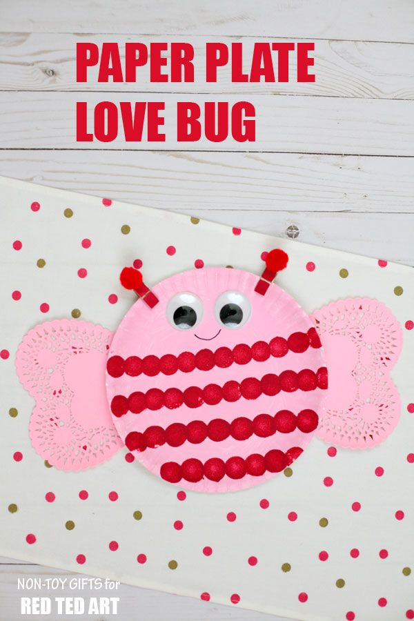 Paper Plate Love Bugs Valentine S Day Crafts And Ideas Preschool