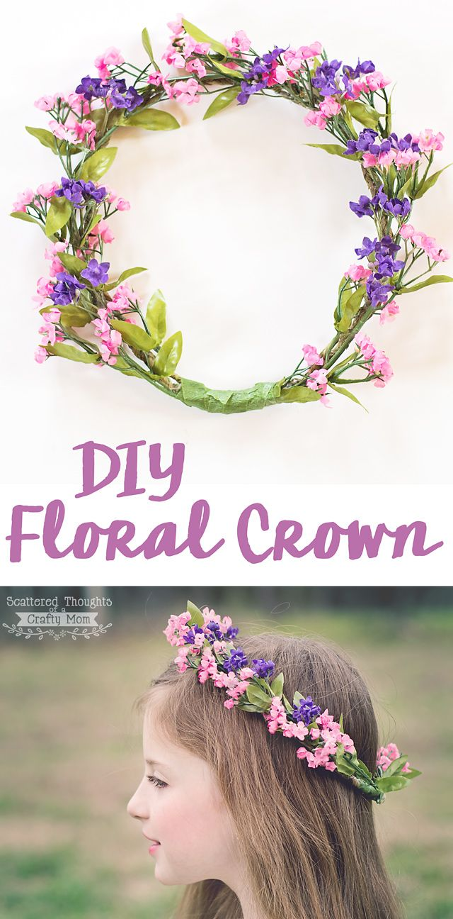 How to make a floral crown. This will be the perfect accessory for our Spring pictures!