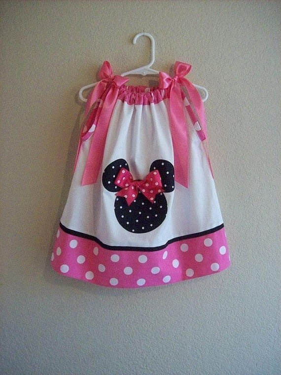 Custom Boutique  Minnie Mouse  Pink  White Polka by AnnMargrock, $21.99