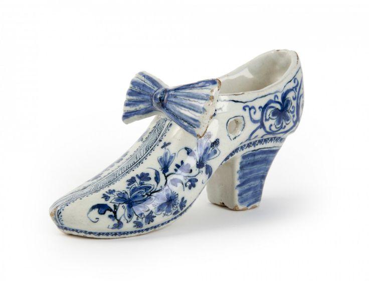 What if Cinderella had been Dutch? A Delft Blue slipper.