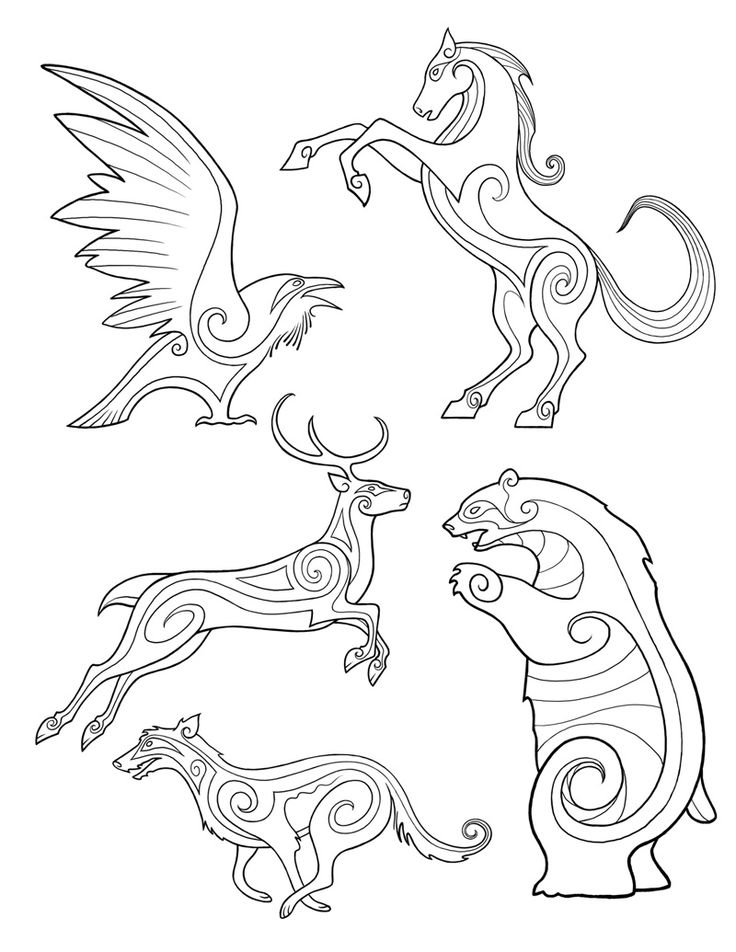 pictish animals. Some of the designs in Rohan in the movies seem to use Pictish art for inspiration.