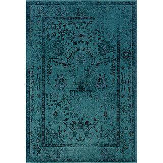Presley Teal/ Grey Area Rug (7'10 x 10'10) | Overstock.com