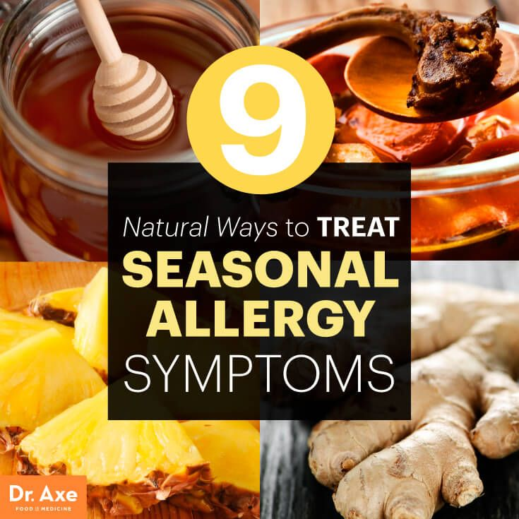 Natural Ways to Treat Seasonal Allergy Symptoms - Dr. Axe