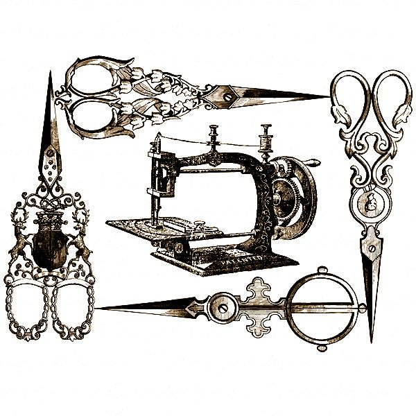 картинки старинная швейная машинка и ножнички понял, что