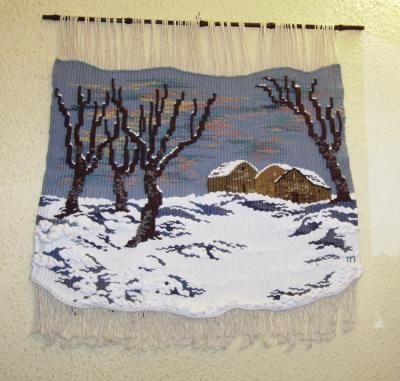 sin hojas tapiz lana,algodón,yute tapiz alto lizo
