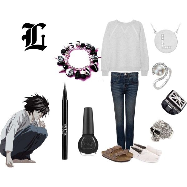 """L"" by casualanime on Polyvore"