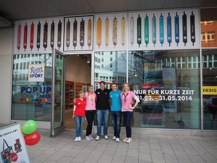 Das Team vom RITTER SPORT #SchokoLaden #Hamburg.