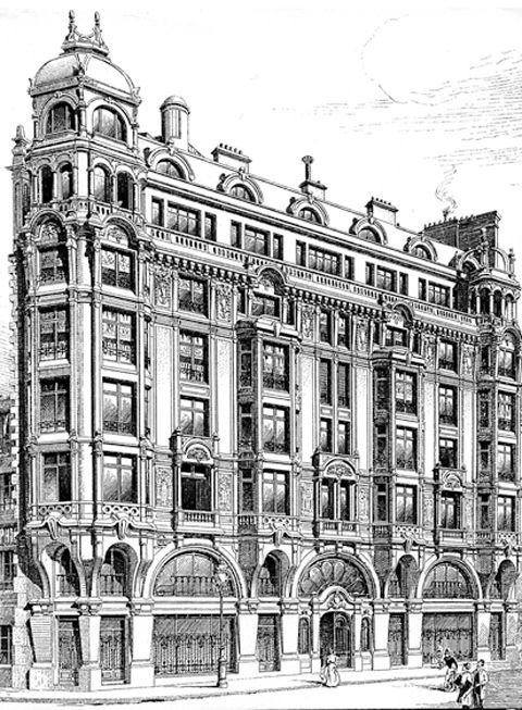 6. Édouard Arnaud, siège de la société de bétons armés Hennebique, 1, rue Danton, Paris VIe, 1899-1900, La Construction moderne, 1900-1901, pl.68.