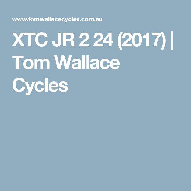 XTC JR 2 24 (2017) | Tom Wallace Cycles