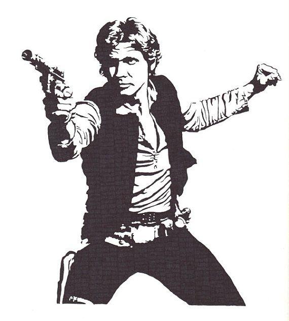 Han Solo  Harrison Ford  Original Illustration by Kelmosa on Etsy, £25.00
