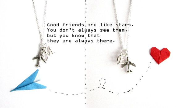 Set of 2 silver airplane necklaces with initial,inspirational quote,Travel necklace,Best friend gifts,Best friend long distance