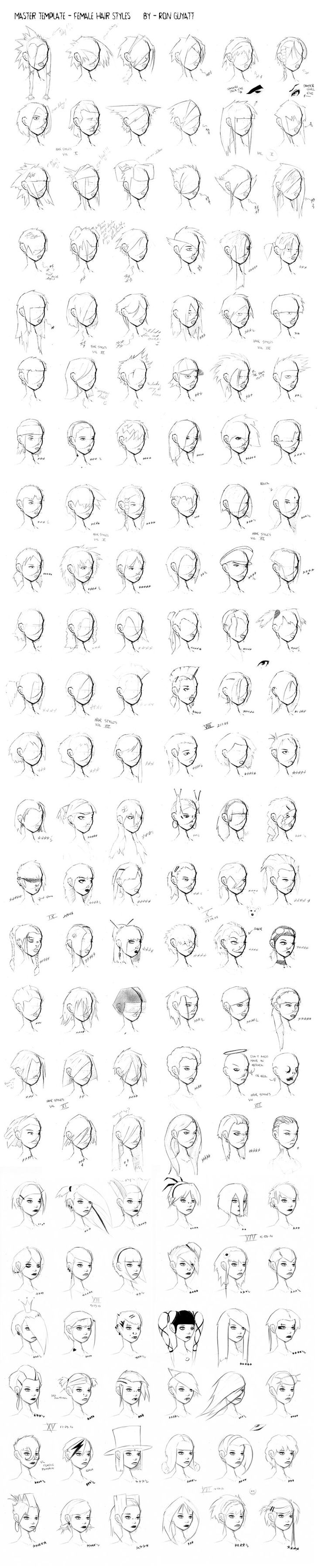 Hair Styles - Master File by =ron-guyatt (I think I saw Lady Gaga there in the middle with her antenna extended)