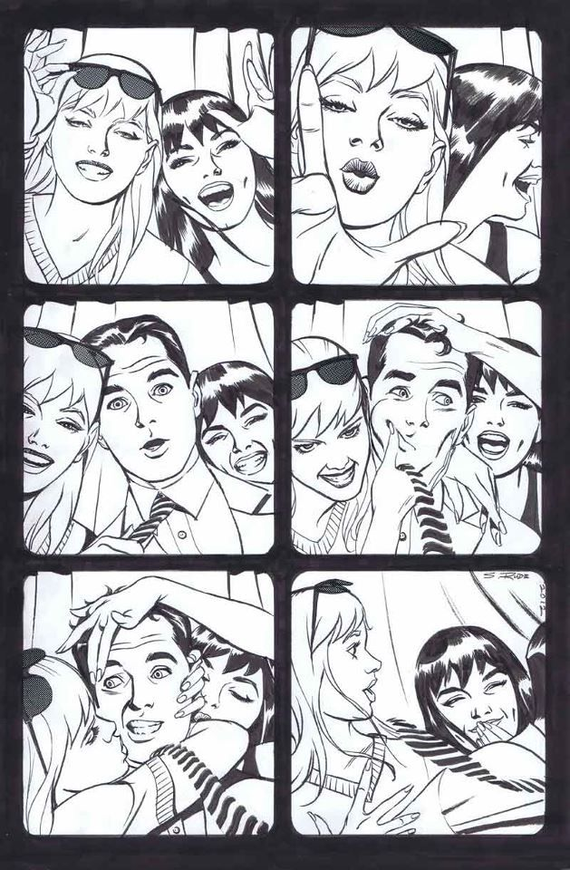 steve rude: gwen, mj, peter