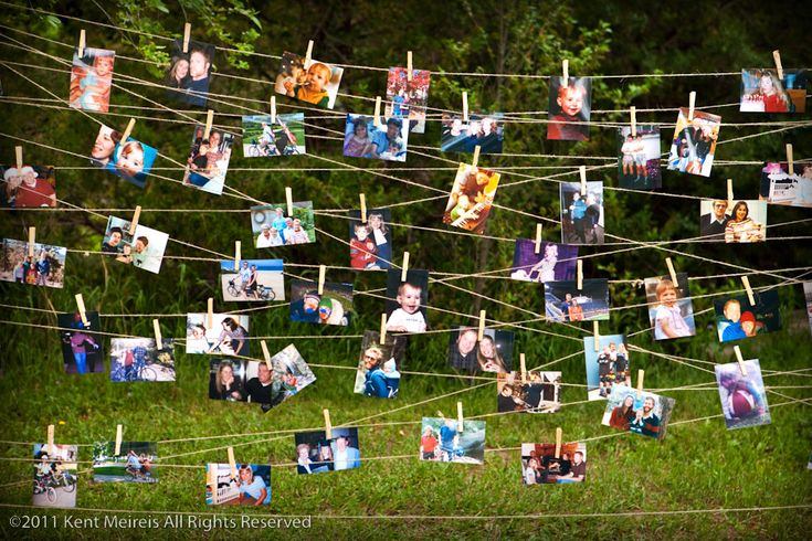 Clothes line photos, incorporate twinkle lights? graduation party?