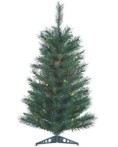 21 Inch Mixed Needle Multi Prelit Artificial Miniature Christmas Trees 103977 * Learn more by visiting the image link.