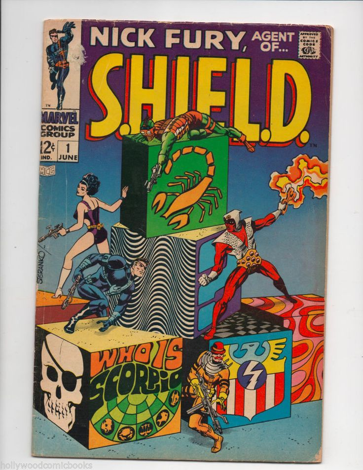 NICK FURY AGENT OF SHIELD #1 1ST App SCORPIO Marvel Comics Jim Steranko 1968 VG