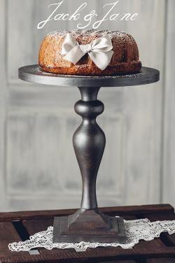 Antikolt ezüst fa tortatál - Princess1 | Jack&Jane tortaállványok