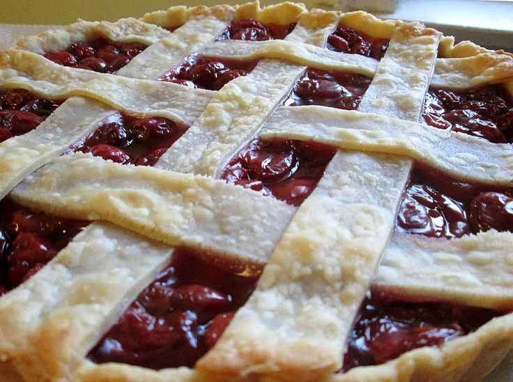 Sour cherry tart. Filling recipe from Epicurious, crust from Alton Brown.