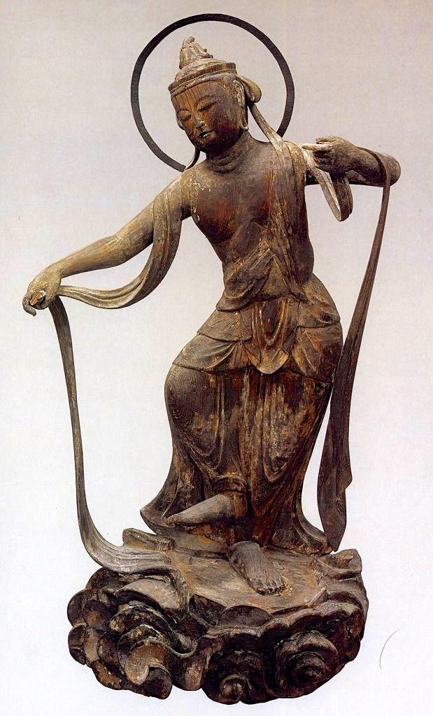 Kuan Yin, the bodhisattva of compassion, Byodoin Temple, Kyoto, #Japan (ca 1053)