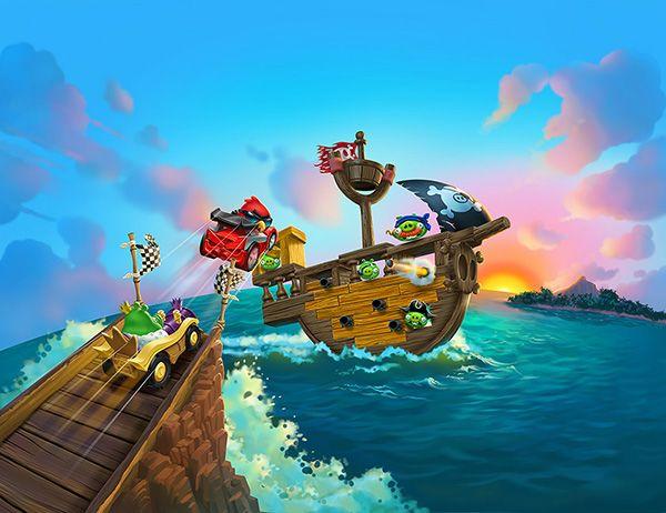 Angry Birds Go! Pirate © Jim Talbot #illustration