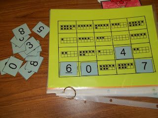 Matching ten frames to numbers 0-10 - this is a great exercise since this is a main focus now in common core standards for math in preK & K.