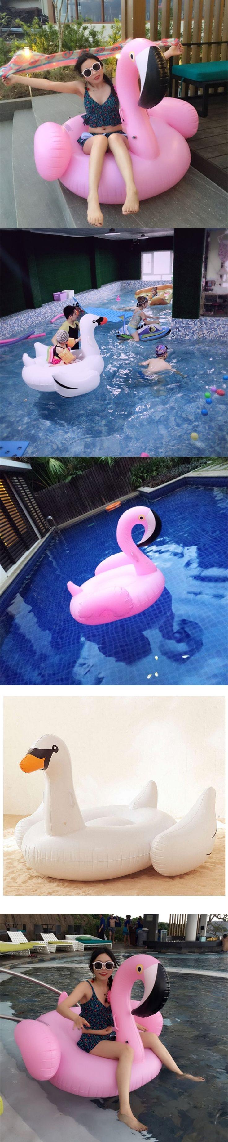 Giant Inflatable Flamingo Pool Float Swimming ring Inflatable Swan Float Flamingo Float Liferafts Pool Float women Pool Toys