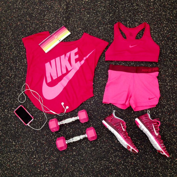 Think Pink with this great Nike workout gear!