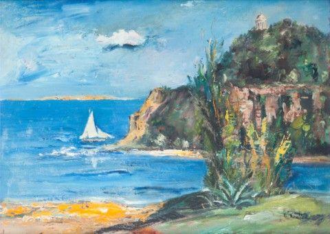 Koníček Oldřich (1886–1932) | Riviera (Skály u moře) | Aukce obrazů, starožitností | Aukční dům Sýpka