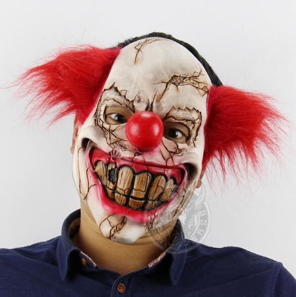 New Arrival Scary Full Face Party Masquerade Costume Mask Latex Funny Clown Mask Payday Joker Horror Halloween Scary Clown Masks