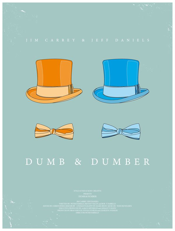 Dumb & Dumber art poster in my top 10 favorite comedies.