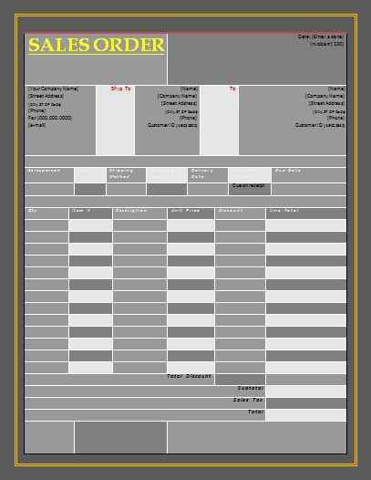 sales order template