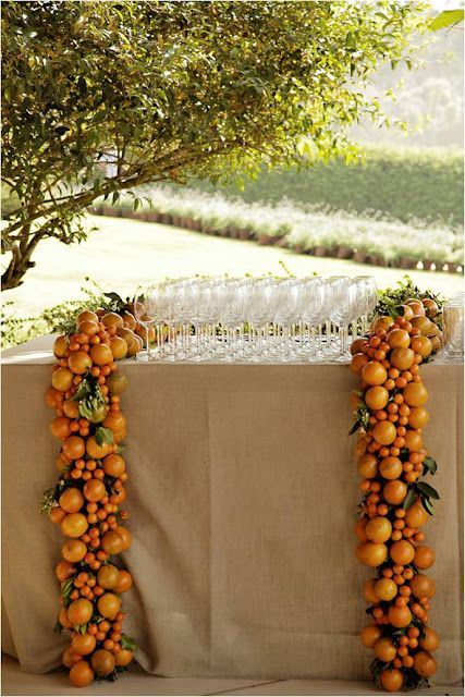 #Garden Wedding, Fruit Garland Decoration... Wedding ideas for brides, grooms, parents & planners ... https://itunes.apple.com/us/app/the-gold-wedding-planner/id498112599?ls=1=8 … plus how to organise an entire wedding, without overspending ♥ The Gold Wedding Planner iPhone App ♥